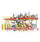 Máy tạo hình thùng nhựa nguyên liệu 6 tầng BMJVI50