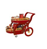 Xe phục vụ rượu inox mạ vàng TR-WY68