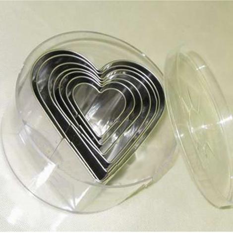 Khuôn bánh hình trái tim 7 mẫu