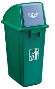 Thùng chứa rác tái chế có nắp đẩy