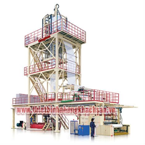 Tổ máy thổi màng đóng gói khổ lớn 3 tầng KM3B