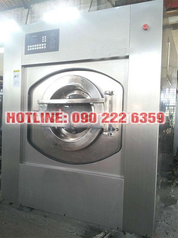 Máy giặt, vắt công nghiệp tự động 100 Kg