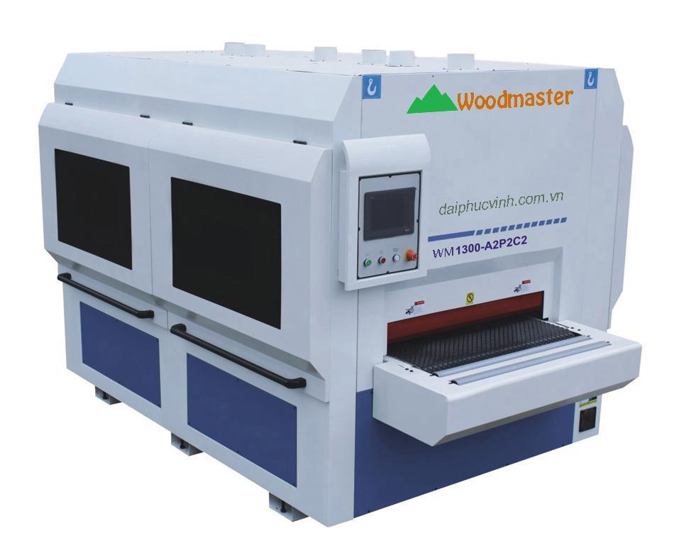 Máy chà nhám chổi thùng 1300mm Woodmaster WM1300-P2A2C2