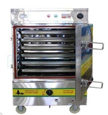 Tủ nấu cơm 6 khay điện/gas