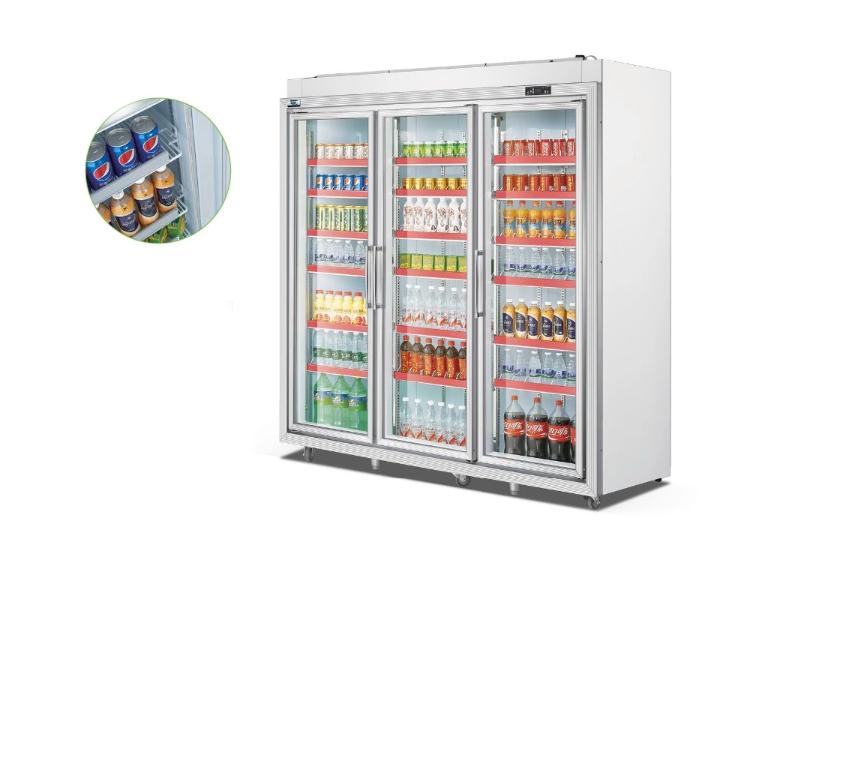 Tủ mát 3 cánh trưng bày siêu thị OKASU OKS-FG20L3F