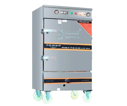 Tủ Nấu Cơm 12 Khay Kết Hợp Ga - Điện Hẹn Giờ Bằng Cơ Và Aptomat OKASU VNK12K-GDAC