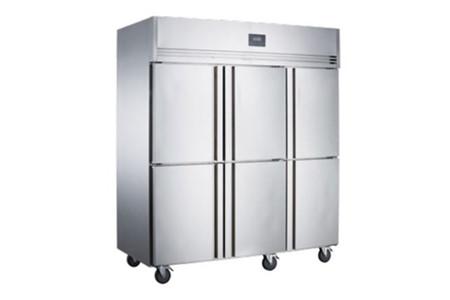 Tủ mát 6 cánh Inox Kolner NKC1.6L6 (Lạnh trực tiếp)