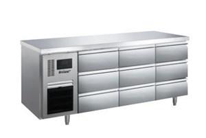 Bàn mát 9 ngăn kéo inox Kolner BN18-XD9 (Làm lạnh quạt gió)