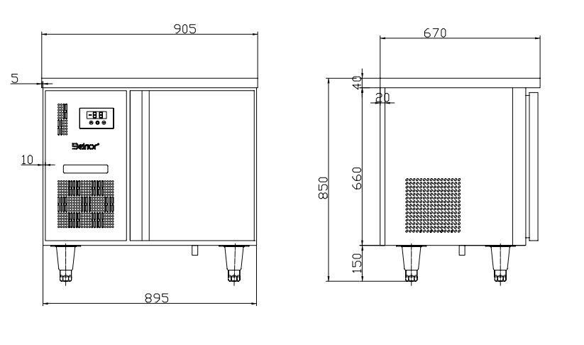 ban mat 1 canh inox kolner bn10-xl1 (lam lanh quat gio) hinh 0