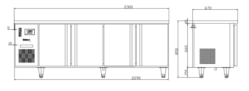 ban mat 4 canh inox kolner bn23-xl4 (lam lanh quat gio) hinh 0
