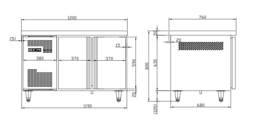 ban mat 2 canh kolner tc0.2l2 (lanh truc tiep) hinh 0
