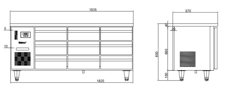 ban mat 9 ngan keo inox kolner bn18-xd9 (lam lanh quat gio) hinh 0